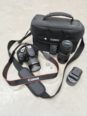 Canon EOS Rebel T5 - 18MP ( Comes W/ Carrier Bag, Two Lenses , And Charger ) for Sale in Houston, TX