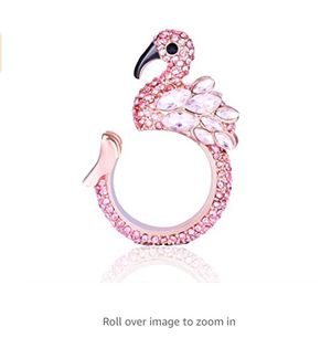 Animal Ring Cute Flamingo for Young Womens Gifts Mom Birthday Teens Girls Party Cuff Statement Ring (Pink) for Sale in Rancho Cucamonga, CA
