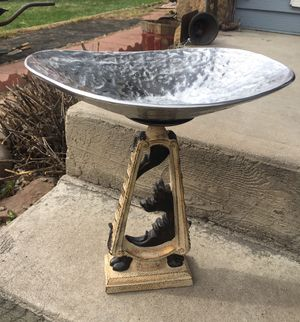 Bird Bath for your sweet garden! Metal bowl with unique stand. for Sale in Bayfield, CO