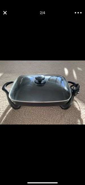 electric skillet with glass covee for Sale in Arlington, VA