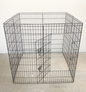 "New in box $45 Foldable 48"" Tall x 24"" Wide x 8-Panel Pet Playpen Dog Crate Metal Fence Exercise Cage for Sale in Whittier, CA"