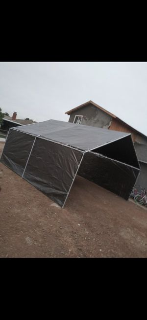 New Heavy duty Size available 20x20 20x30 20x40 20x50 And more Price depends on the size Canopy Tent Carport Canopie Canopies Carpa for Sale in San Bernardino, CA