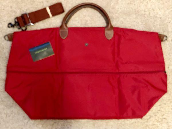 NEW Longchamp Le Pliage expandable travel duffle bag