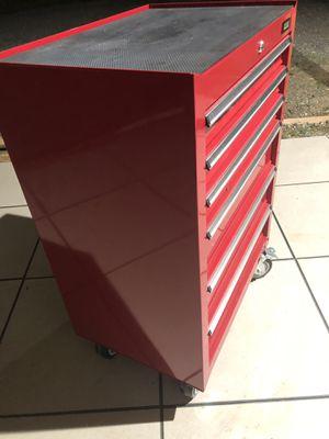 ULINE Rolling Steel Tool Box Cart Storage Cabinet Heavy Duty Garage 6 Drawers for Sale in Clarksburg, MD