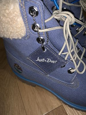 """Timberland x Just Don Premium 6"""" Mens Size 8 A1UXU Denim Boots Hot for Sale in Los Angeles, CA"""
