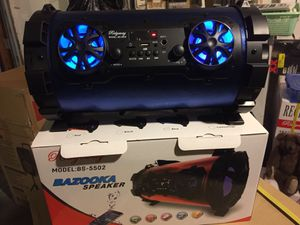 Bazooka style rechargeable Bluetooth speaker/aux/Fm/USB and SD port/many styles available/brand new for Sale in Moreno Valley, CA