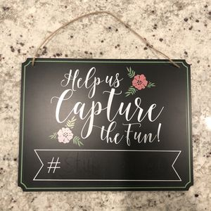 Wedding Hashtag Chalkboard Sign for Sale in Fresno, CA