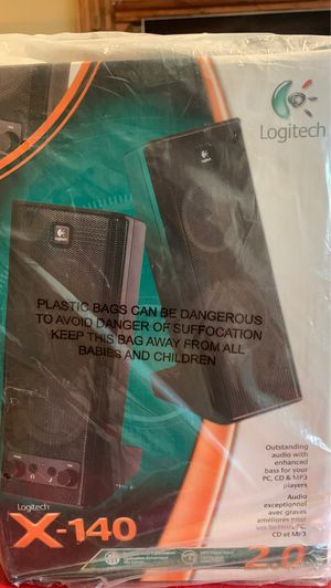 Logitech X-140! Speakers system With outstanding audio w/ enhanced base for Sale in Fort Walton Beach, FL