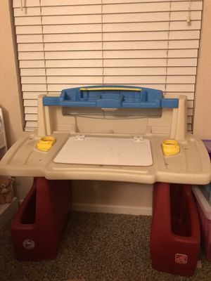 Kids step 2 deluxe art desk with storage and chair for Sale in Chula Vista, CA