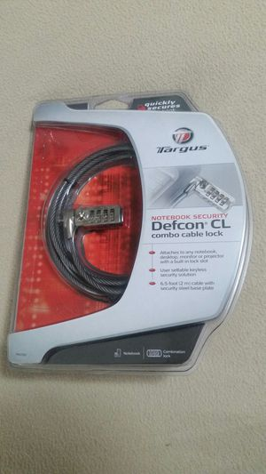 NIB Targus DefCon CL Notebook Cable Lock for Sale in Wall Township, NJ