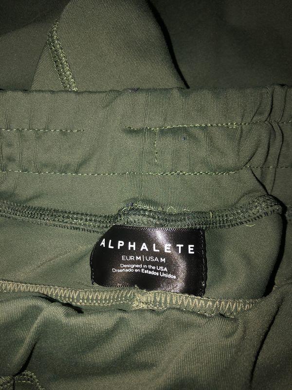 Alphalete Premium Olive Green Joggers