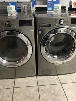 LG FRONT LOADER WASHER AND ELECTRIC DRYER SET BRAND NEW OPEN BOX for Sale in March Air Reserve Base,  CA