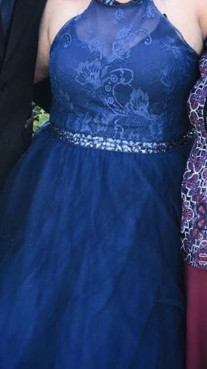Navy blue corset prom dress only wore it for a few hours $200 for Sale in Henagar, AL