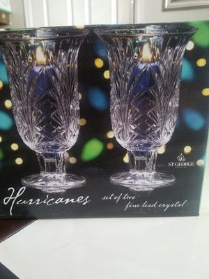 Set of Two Hurricane Crystal Floating Candle Holders for Sale in Aurora, CO