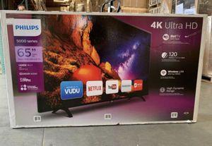 """Phillip's 65"""" 4k UHD Smart HDR LED Tv for Sale in Garden Grove, CA"""