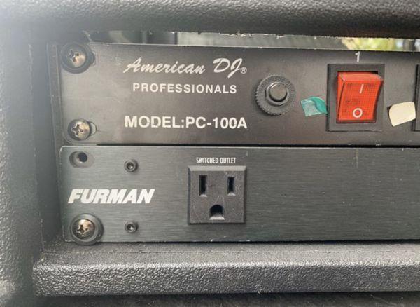 American DJ PC-100A 8-Switch Power Furman mx8 power conditioner GATOR CASES DJ equipment