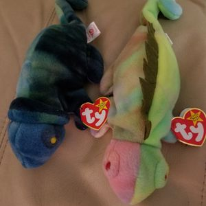 Beanie Babies TY Originals IGGY and RAINBOW both Very Rare for Sale in Coronado, CA