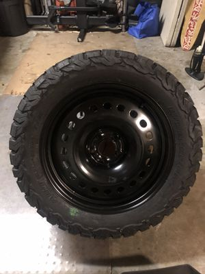 BF Goodrich KO2 - 255/55/18 on 18x8 steel wheel - ZERO miles for Sale in Orlando, FL
