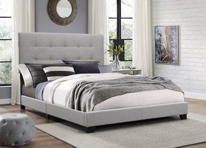 Gray queen bed frame for Sale in Glendale, AZ