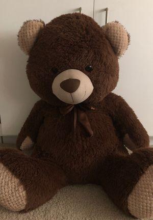 Big stuffed brown teddy bear for Sale in Rancho Cucamonga, CA