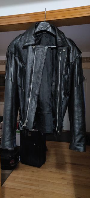 Leather Motorcycle Jacket for Sale in Taylor, MI