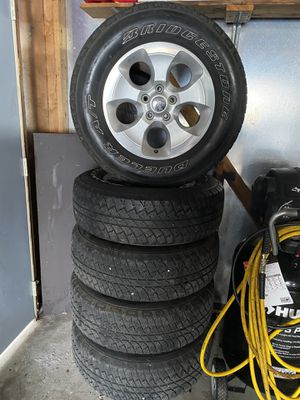 2016 and 2012 Jeep Wrangler Sahara wheels for Sale in Skokie, IL