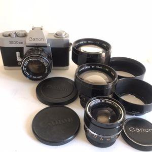 Canon EX EE full set of lenses. Super rare for Sale in Philadelphia, PA