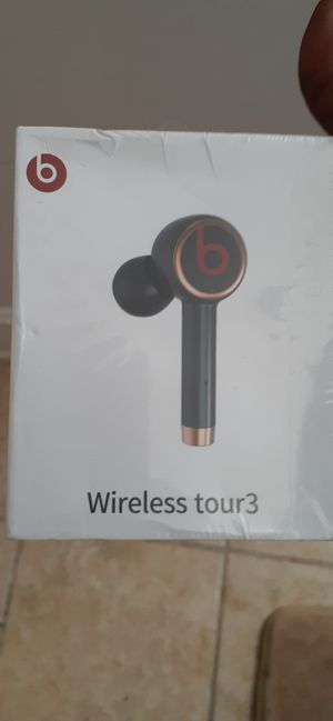 Dre Beats Tour3 Wireless touch bluetooth sweat resistant ear buds with wireless charging case. for Sale in Washington, DC