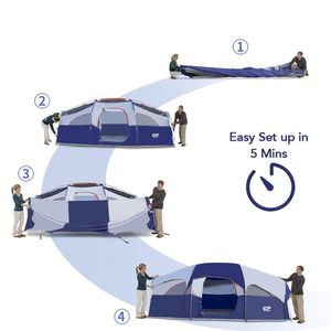 💥8-Person-Camping-Tent, Waterproof Windproof Family Tent for Sale in Los Angeles, CA