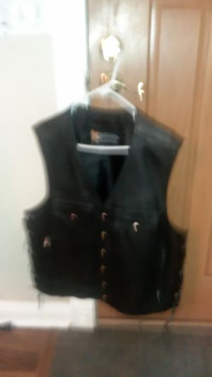 Leather motorcycle vests for Sale in Peoria, AZ