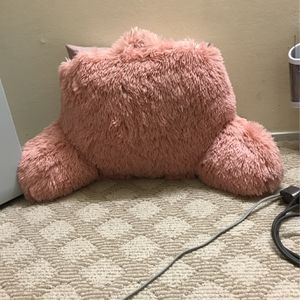 Pink Fluffy Faux Fur backrest pillow for chair/bed for Sale in San Jose, CA