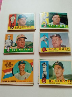 50, 1960 topps baseball cards good condition no doubles for Sale in Fullerton, CA