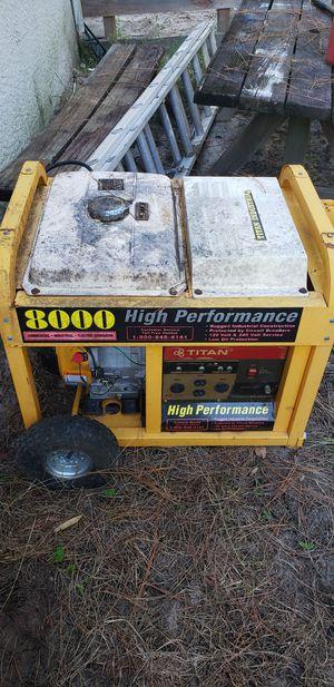 Titan 8000 watt generator for Sale in Dunnellon, FL
