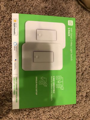 NEW wemo WiFi Smart 3-way light switch 2 pack model # WLS0403-BDL for Sale in Dumfries, VA