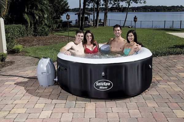 🏖 Bestway Miami Hot Tub Jacuzzi Spa above ground pool, 4-person, Black Coleman 🏖 FREE LOCAL DELIVERY WITHIN 45 MILES