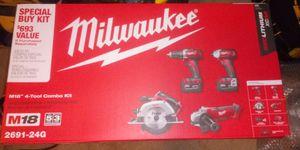 Milwaukee combo 4 piezas M18 for Sale in Stafford, VA