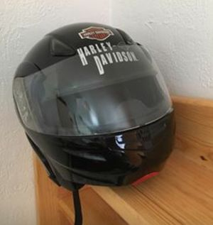 Near new black motorcycle helmet w/2 visors NEVER DROPPED for Sale in San Diego, CA