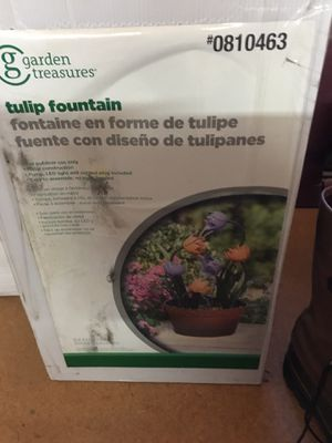 Tulip fountain for Sale in Rehoboth, MA