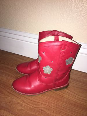 Girls red boots size 13 for Sale in Gilroy, CA