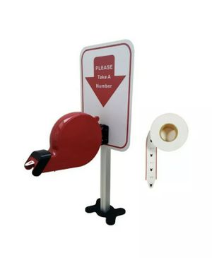 Take-a-Number System Ticket Dispenser with Stand - (1) Roll of Tickets (Red) for Sale in Davie, FL