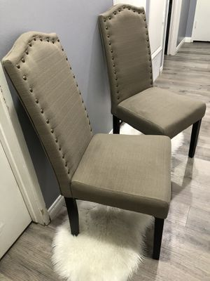 2 nail head chairs $60 least $50 for Sale in Lemon Grove, CA