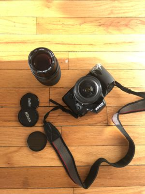 Nikon n70 Film camera, 2 lenses, 1 polarizer, 2 carry cases (35mm DSLR) for Sale in Chicago, IL