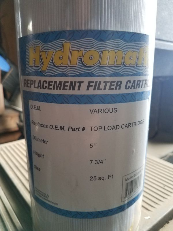 Hydromatic Filter for spa hot tub