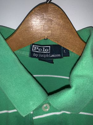 Men's Ralph Lauren Polo shirt. Size: L, Color: Green & White, Design: Polo Rugby for Sale in Silver Spring, MD