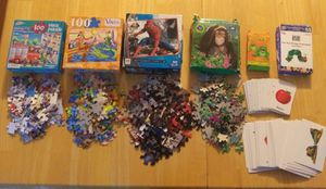 5 puzzles ( 1 not in pic) Matching Game, & Hungry Caterpillar Game for Sale in Danvers, MA