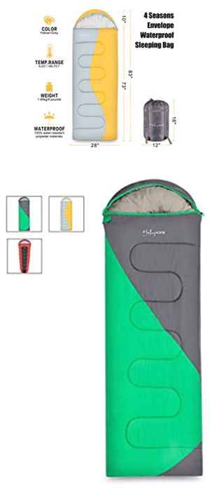 4 Seasons Envelope Sleeping Bag for Camping/Hiking/Backpacking, Easy to Compress and Water-Resistant for Sale in Temple City, CA