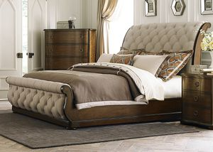 Breathtaking Cotswold Upholstered Bed Frame, SLIGHTLY USED - NO MATTRESS! for Sale in Boston, MA