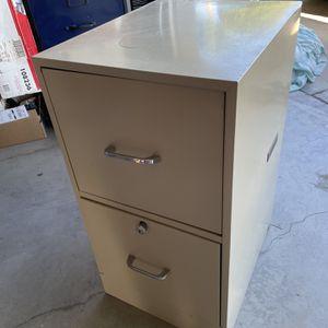 2 Drawer Metal File Cabinet for Sale in Rancho Santa Margarita, CA
