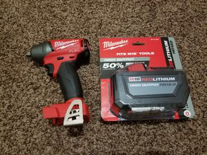 Milwaukee M18 FUEL 18-Volt Lithium-Ion Brushless Cordless 3/8 in. Compact Impact Wrench with Friction Ring with 12.0Ah Battery for Sale in Modesto, CA