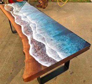 Epoxy Resin Ocean Table for Sale in Richmond, VA